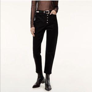 Wilfred Free • Black Belen Mom Fit Aritzia Jeans